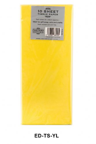 10 Sheet Tissue Paper Yellow